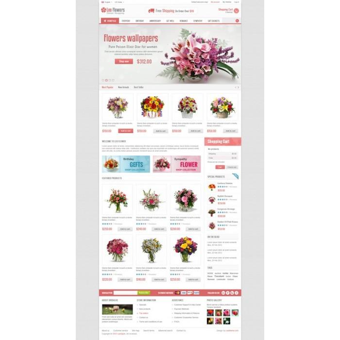 theme - Cadeaux, Fleurs et Fêtes - Leo Flower - 11