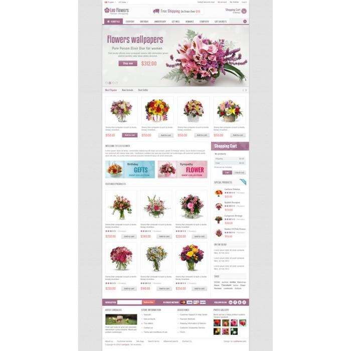 theme - Cadeaux, Fleurs et Fêtes - Leo Flower - 12