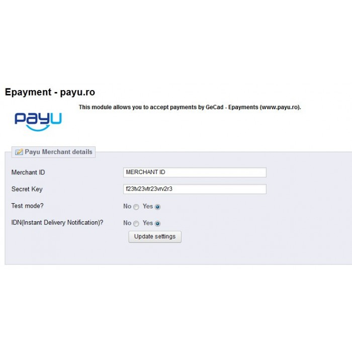 module - Payment by Card or Wallet - PayU Romania,Turkey, Russia, Hungary, Ukraine - 5