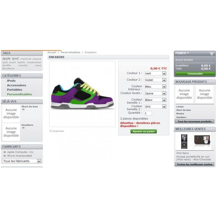 module - Diversificação & Personalização de Produtos - Product customization - 1