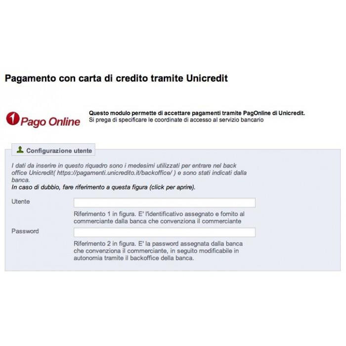 module - Creditcardbetaling of Walletbetaling - Unicredit PagOnline Carte - 3