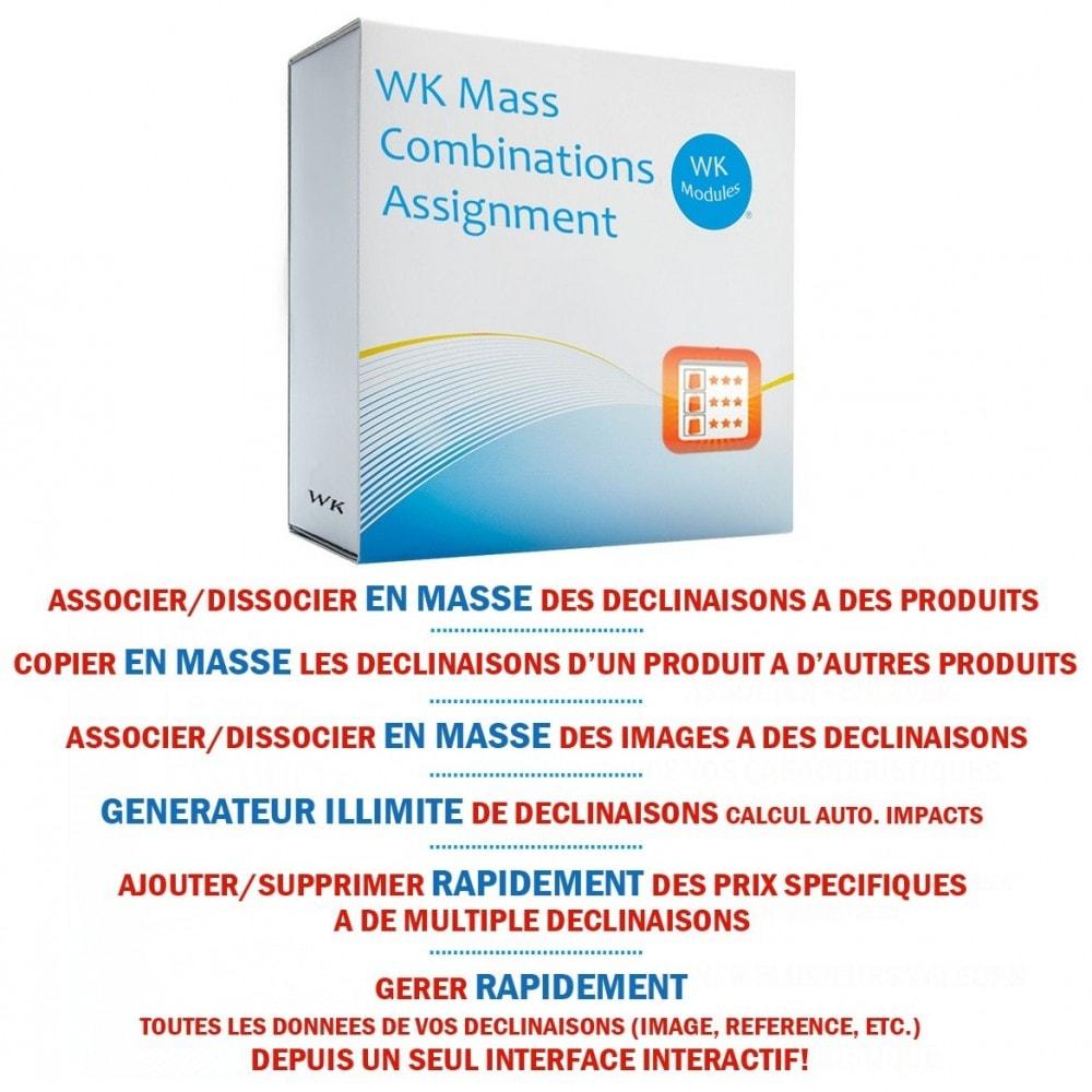 module - Déclinaisons & Personnalisation de produits - WK Gestion en masse des déclinaisons pour vos produits - 1
