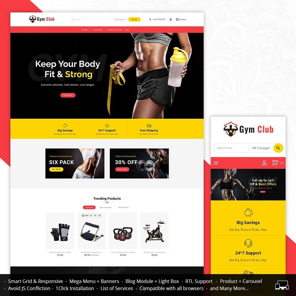 theme - Sport, Attività & Viaggi - Gym Club & Equipment - 1