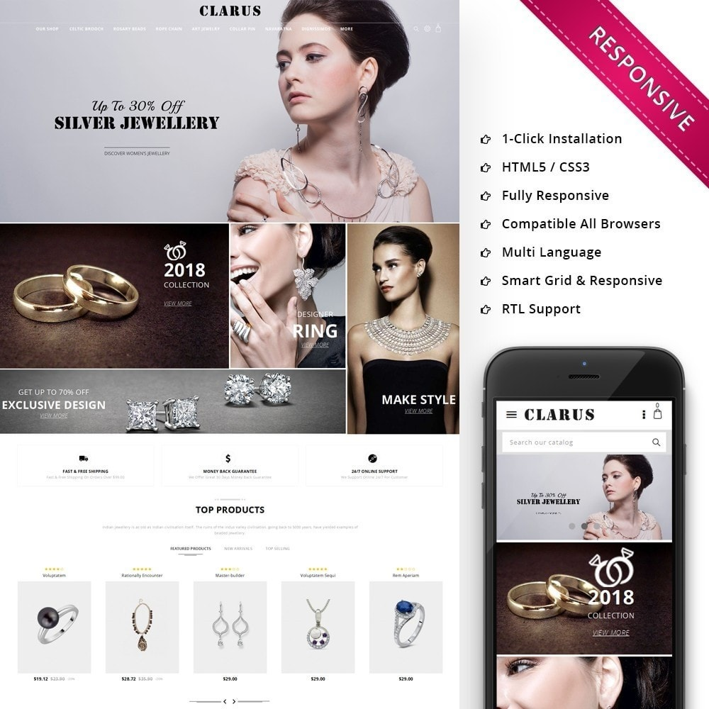 theme - Jewelry & Accessories - Clarus - The Jewelry Shop - 1