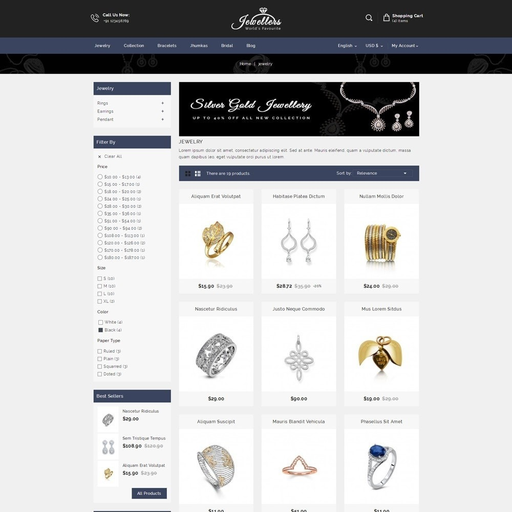 theme - Bellezza & Gioielli - Jewellers - Jewelry Shop - 3