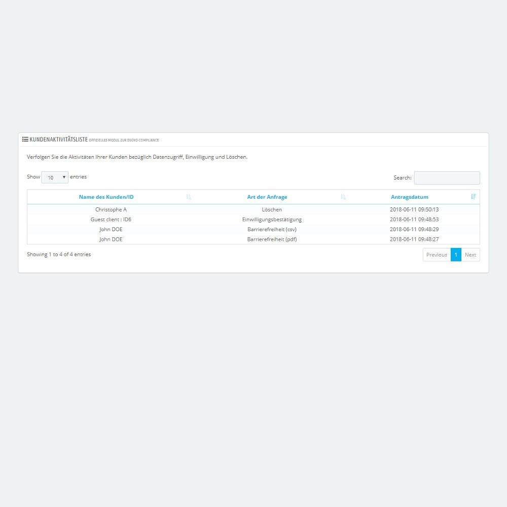 module - Rechtssicherheit - Offizielles Modul zur DSGVO-Compliance by PrestaShop (1.5 & 1.6) - 6