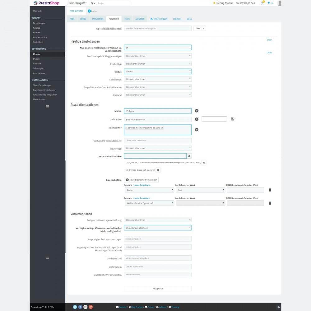 module - Quick Eingabe & Massendatenverwaltung - Produktmassenbearbeitung: Massenupdateassistent - 2