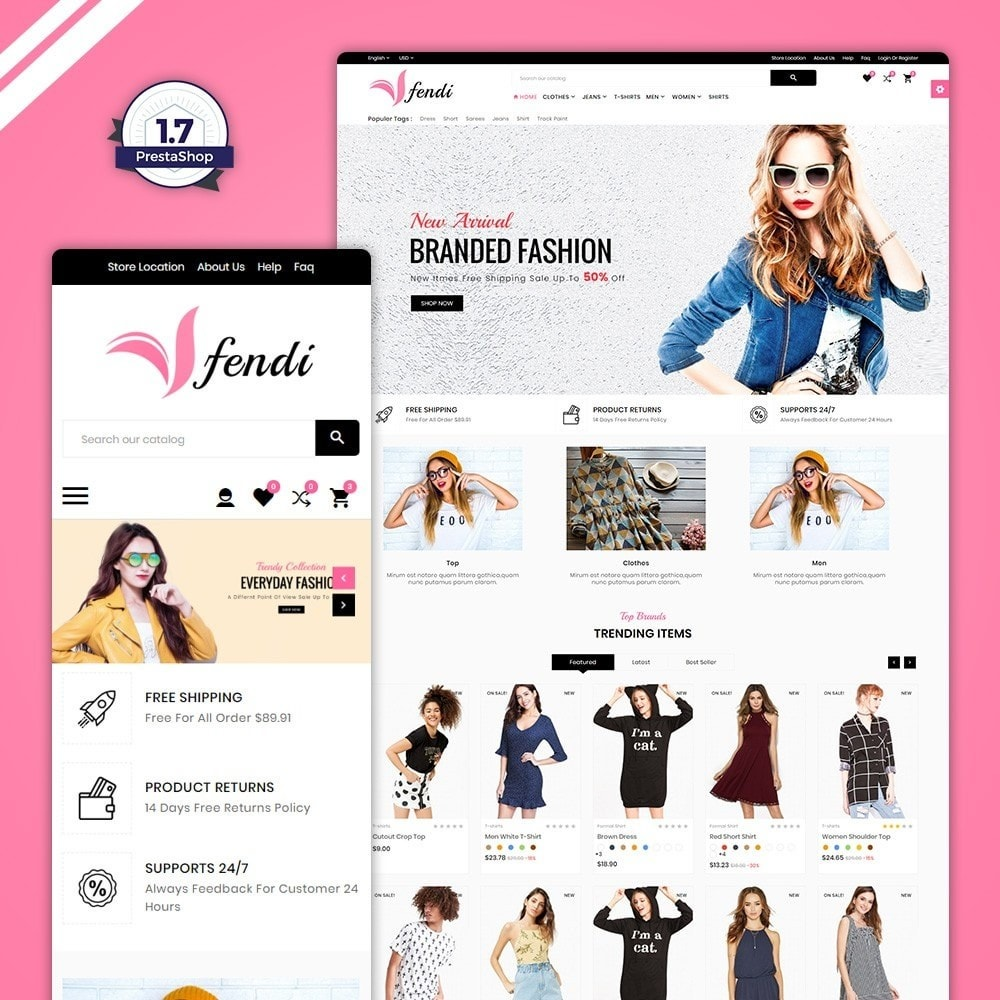 theme - Moda & Calçados - Fendy – Fashion Style Mega Shop - 1