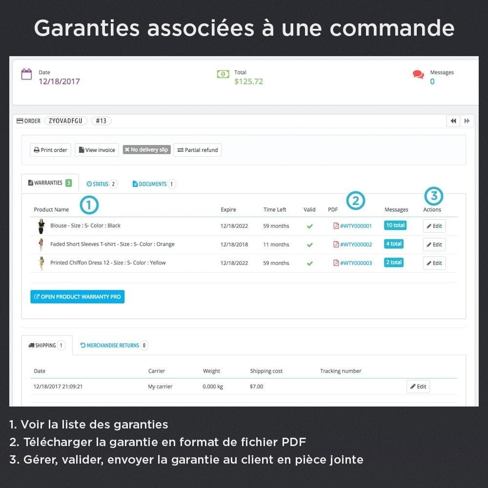 module - Gestion des Commandes - Produit Garantie Pro - 10