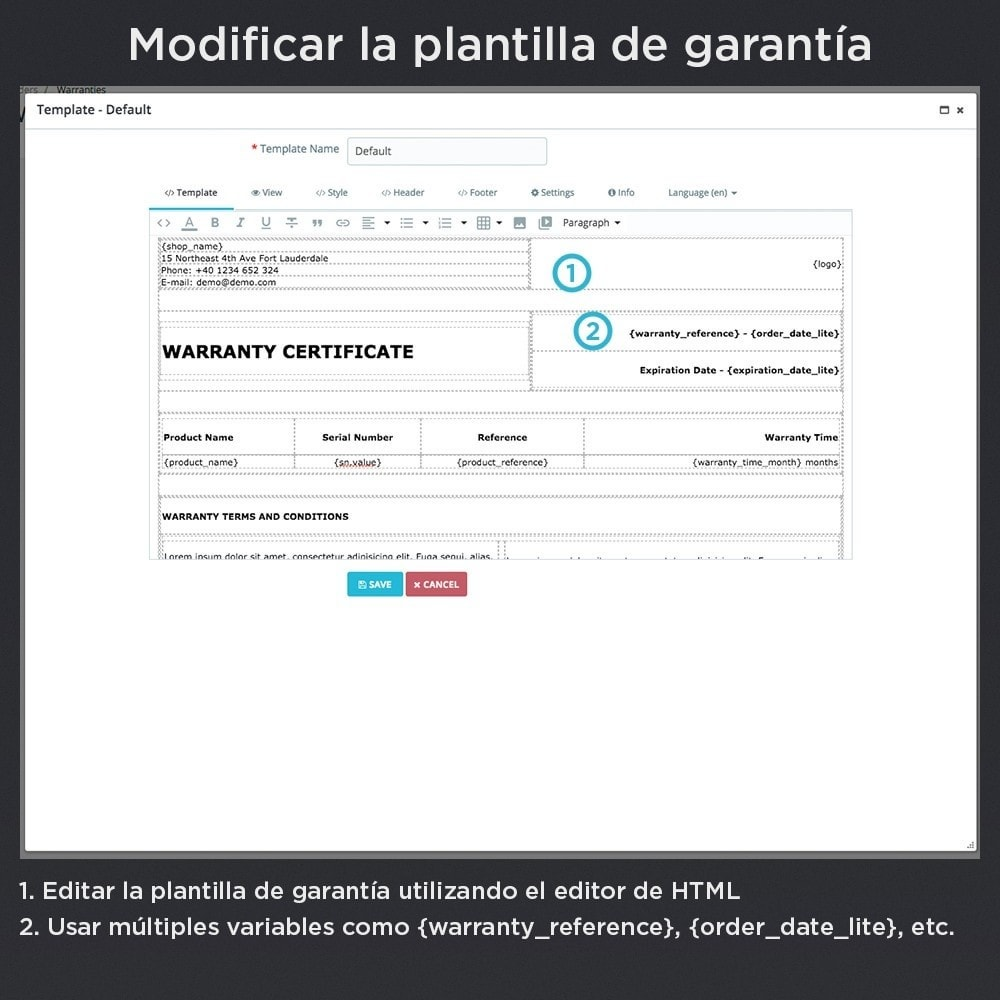 module - Gestión de Pedidos - Garantía del Producto Pro - 18