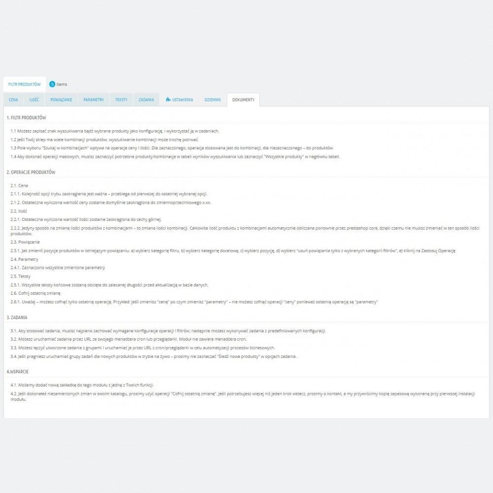 module - Szybkie & Masowe edytowanie - Zaawansowane Działania Masowe + Pełny Filtr Produktów - 8