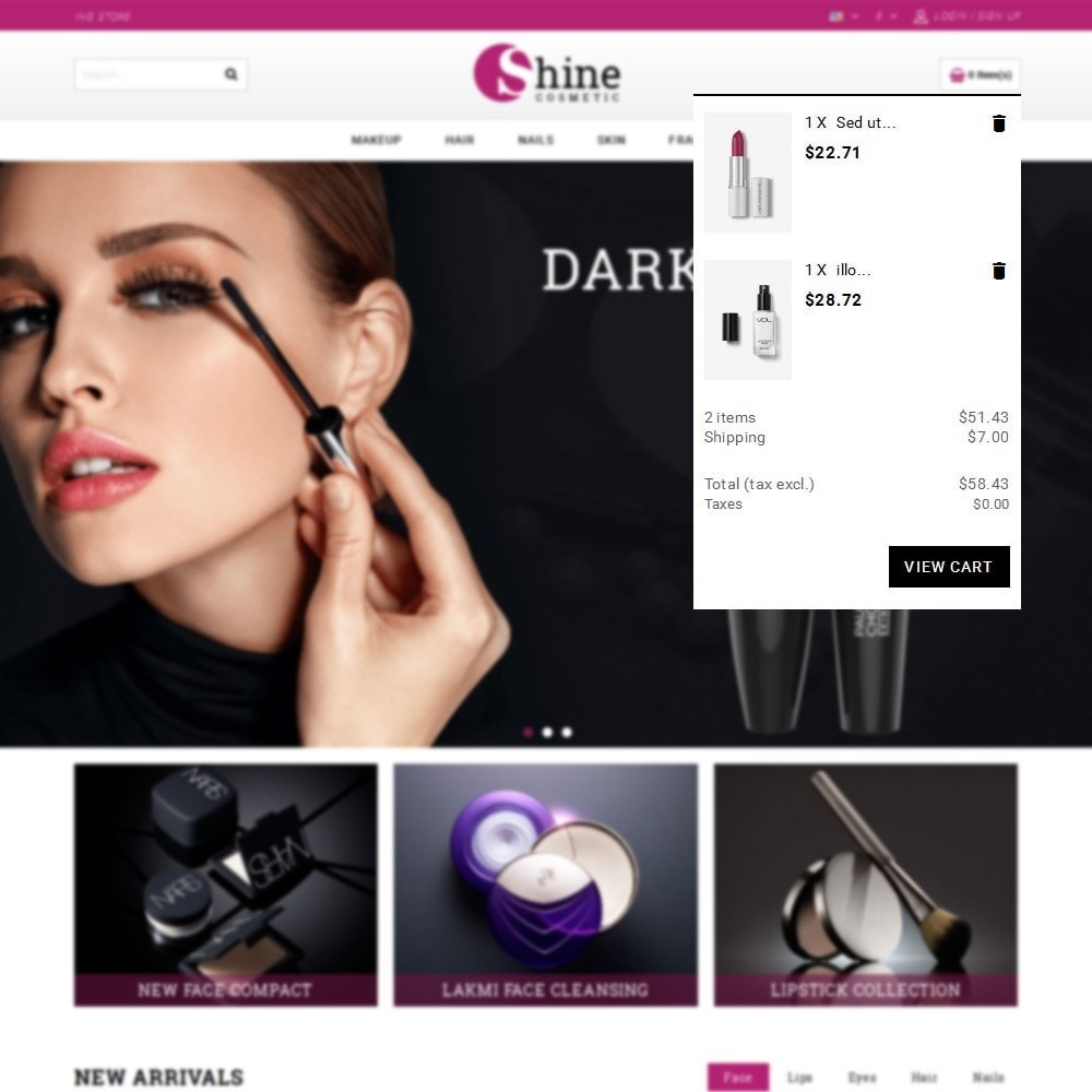 theme - Health & Beauty - Shine Cosmetic Store - 8