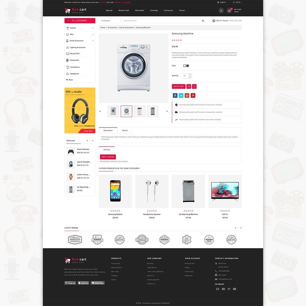 theme - Elettronica & High Tech - RedCart - The Mega Ecommerce Store - 5