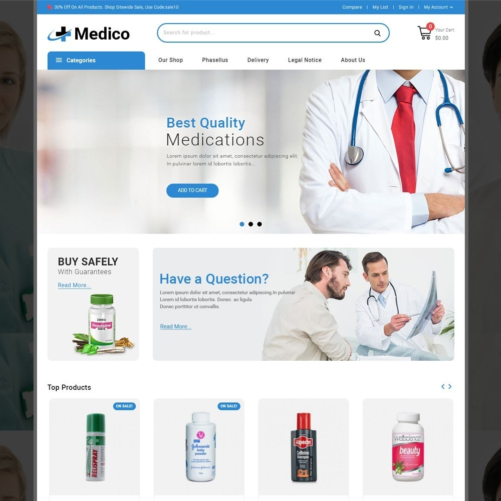 theme - Santé & Beauté - Medico - The Medical Store - 2