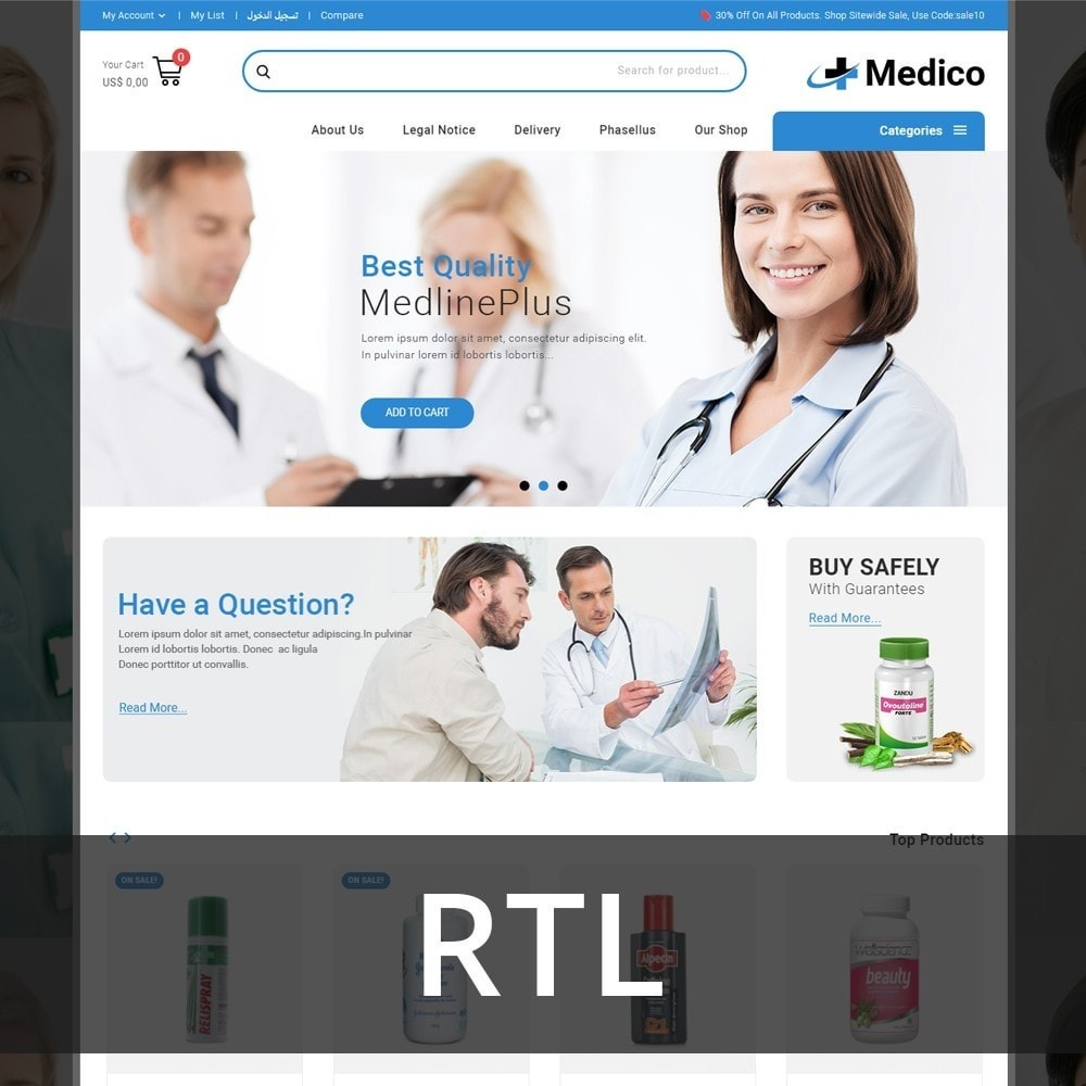 theme - Santé & Beauté - Medico - The Medical Store - 3