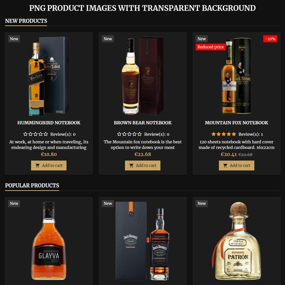 theme - Drink & Wine - AT18 Black - Drink, alcohol, liquor, whisky, beer store - 9