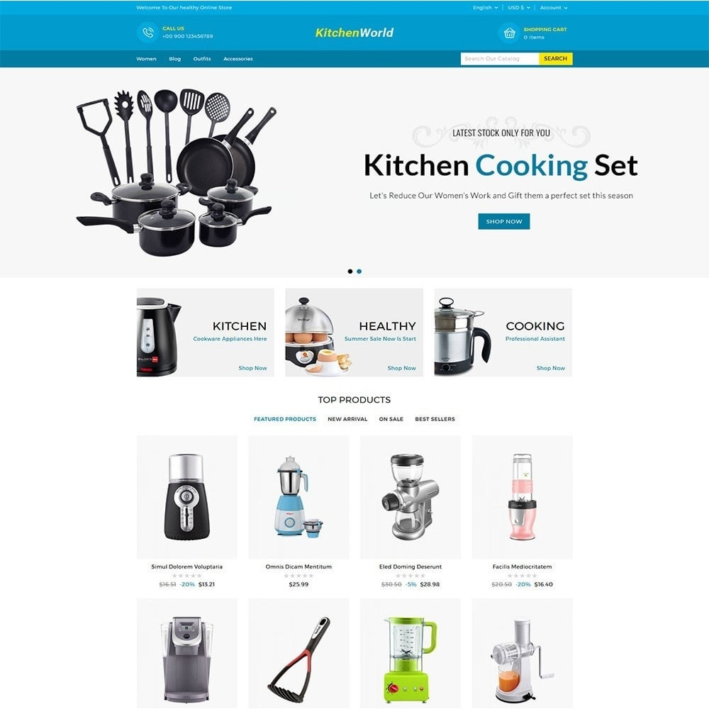 theme - Casa & Giardino - Kitchen World Online Store - 2