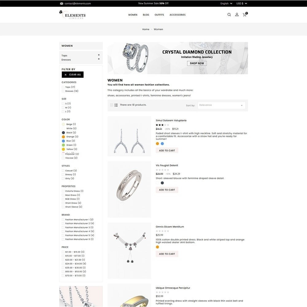 theme - Jewelry & Accessories - Elements Jewellery Store - 5
