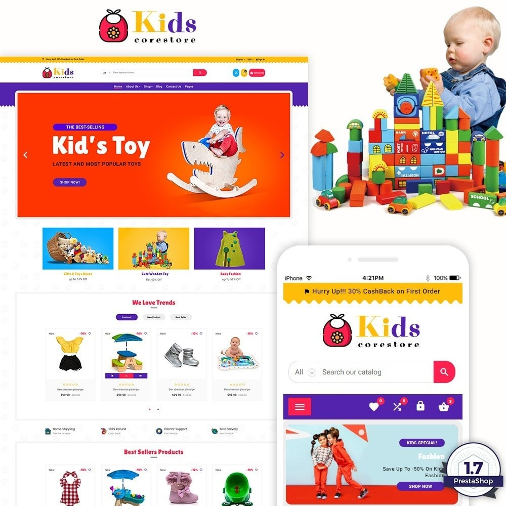 theme - Kids & Toys - Children Kids and Toy Shop - 1