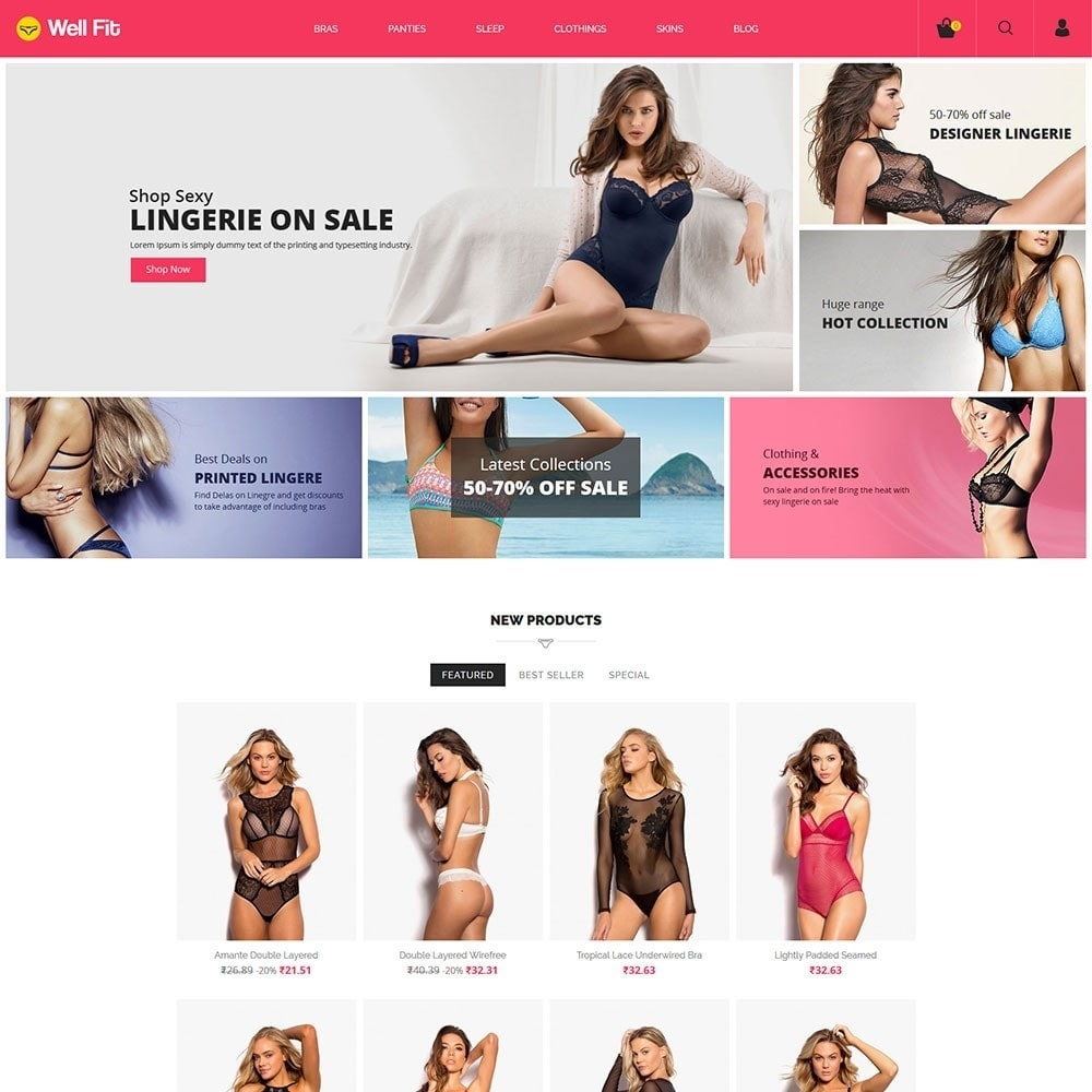 theme - Mode & Chaussures - Wellfit - Lingerie  Fashion Store - 2