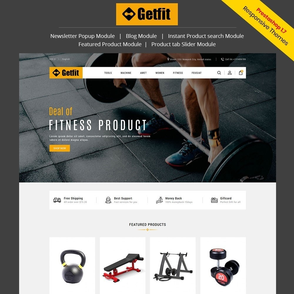 theme - Fashion & Shoes - Get Fit Gym Store - 1