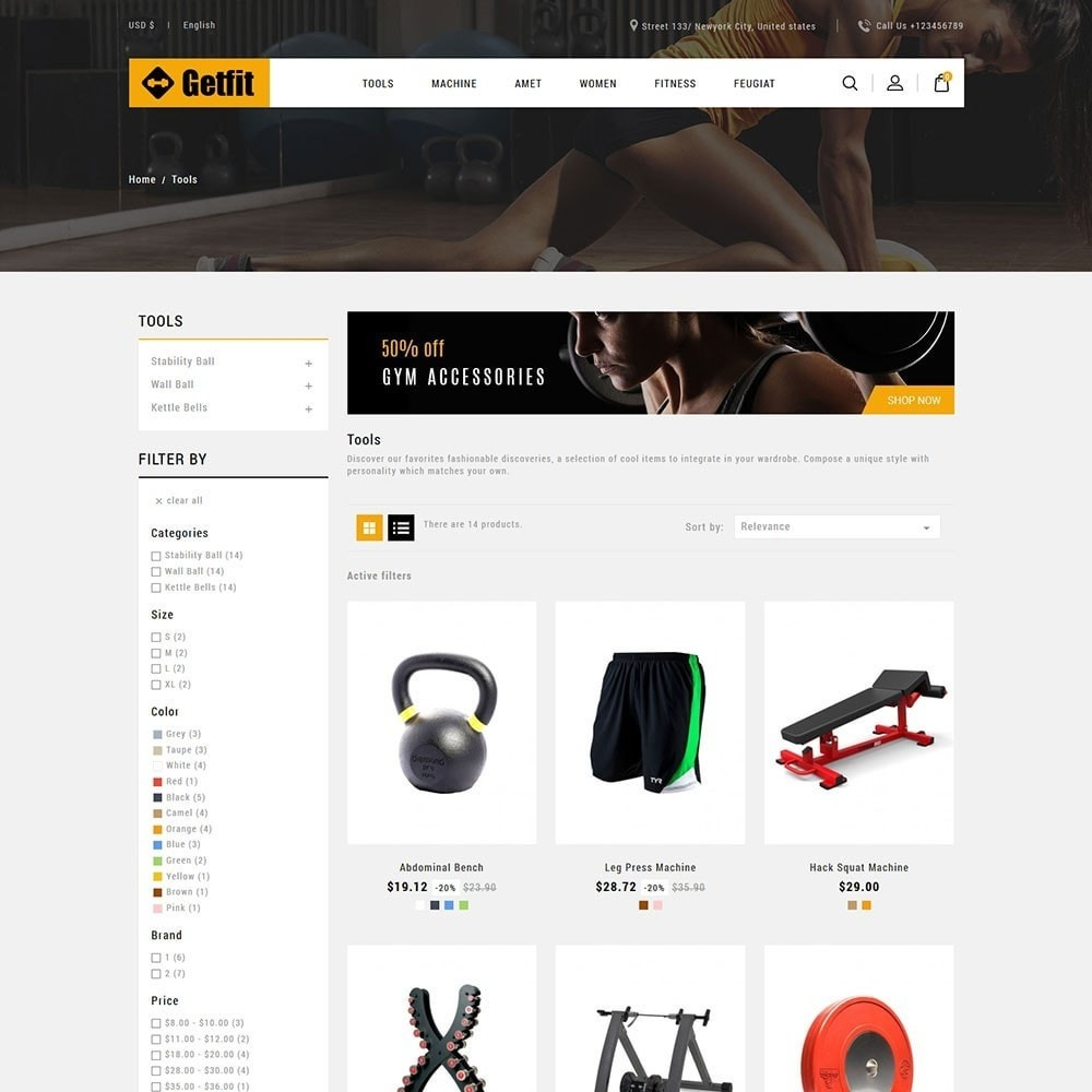 theme - Mode & Chaussures - Get Fit Gym Store - 3
