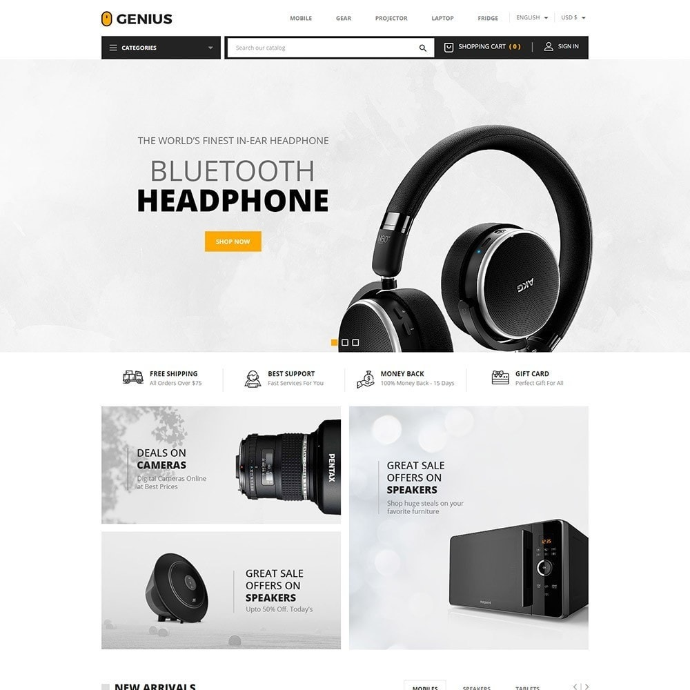 theme - Elektronica & High Tech - Genius - Electronics Online Store - 2
