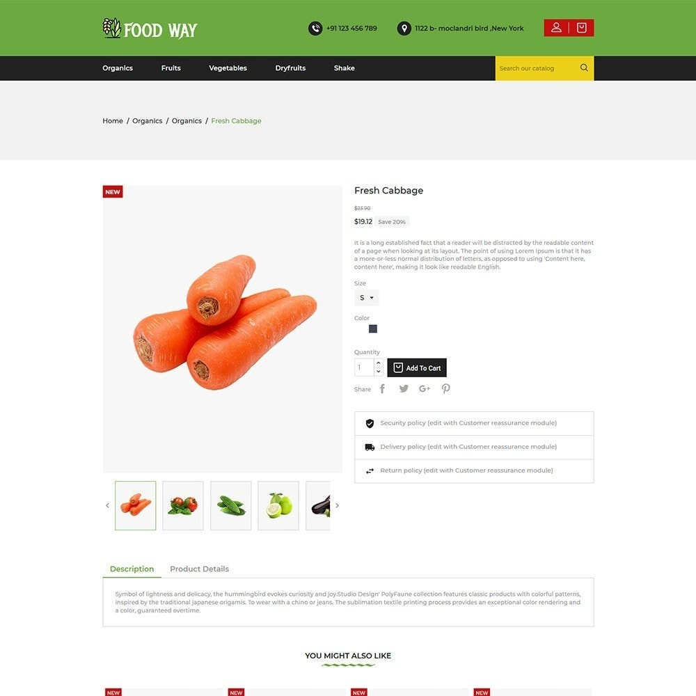 theme - Food & Restaurant - Foodway Food Store - 5