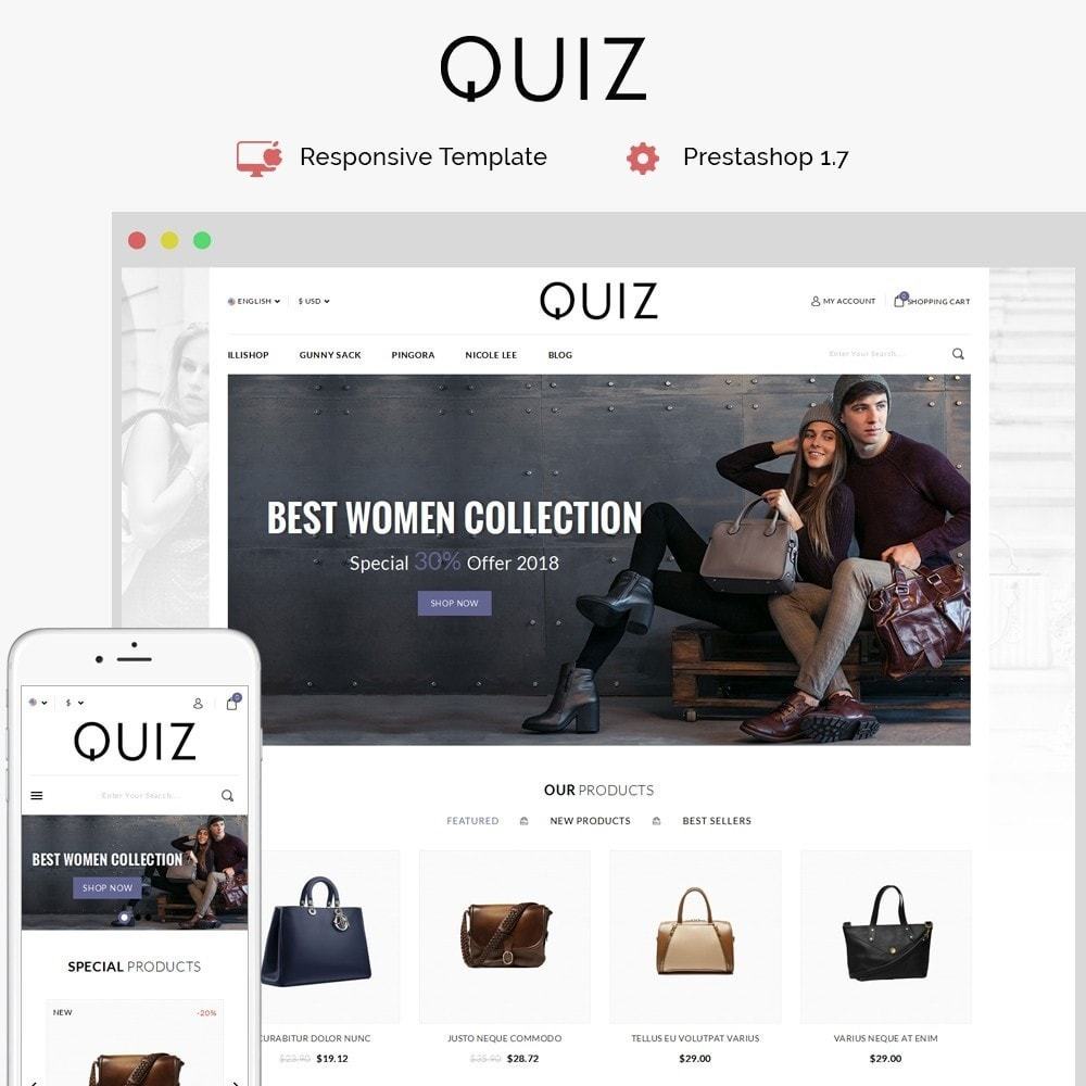 theme - Jewelry & Accessories - Quiz Bag Store - 1