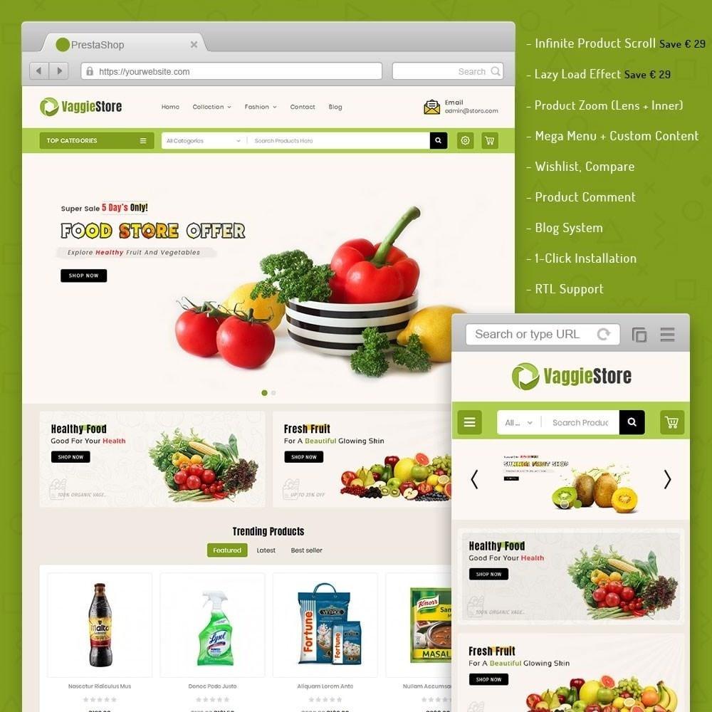 theme - Żywność & Restauracje - Vaggie Store - 1