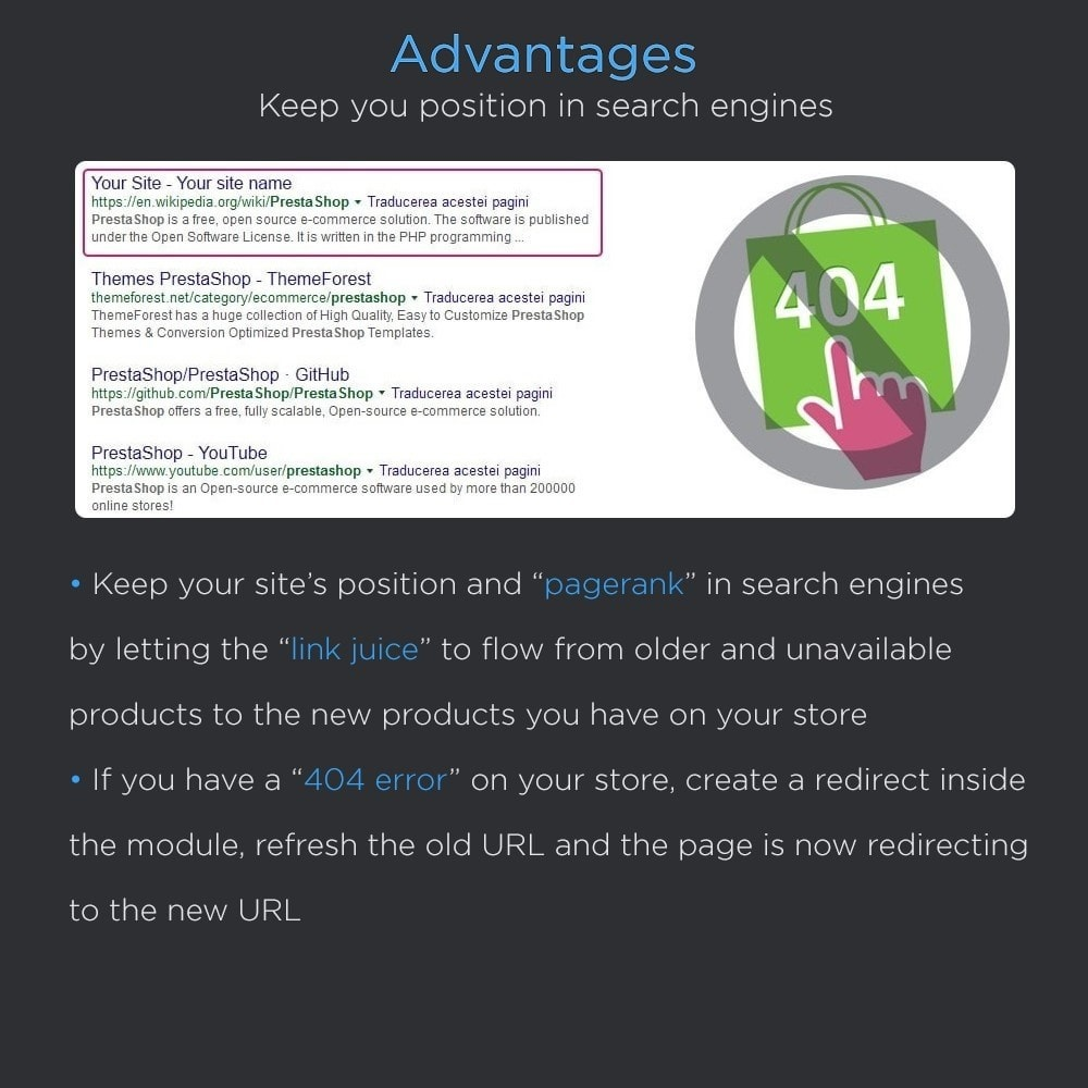 module - URL & Omleidingen - Seo Redirects Pro (301, 302, 303 URL Redirects) - 4