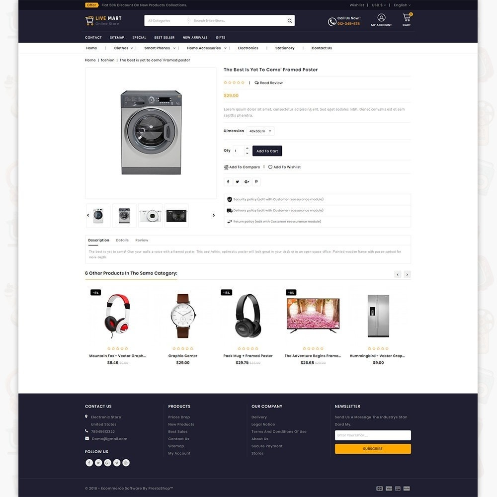 theme - Eletrônicos & High Tech - LiveMart - The Mega Ecommerce Store - 5