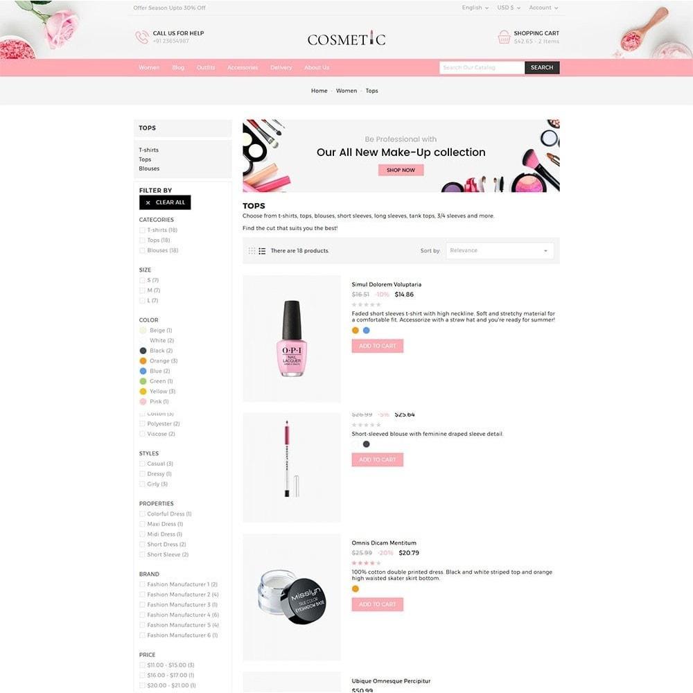 theme - Здоровье и красота - Cosmetics Store - 4