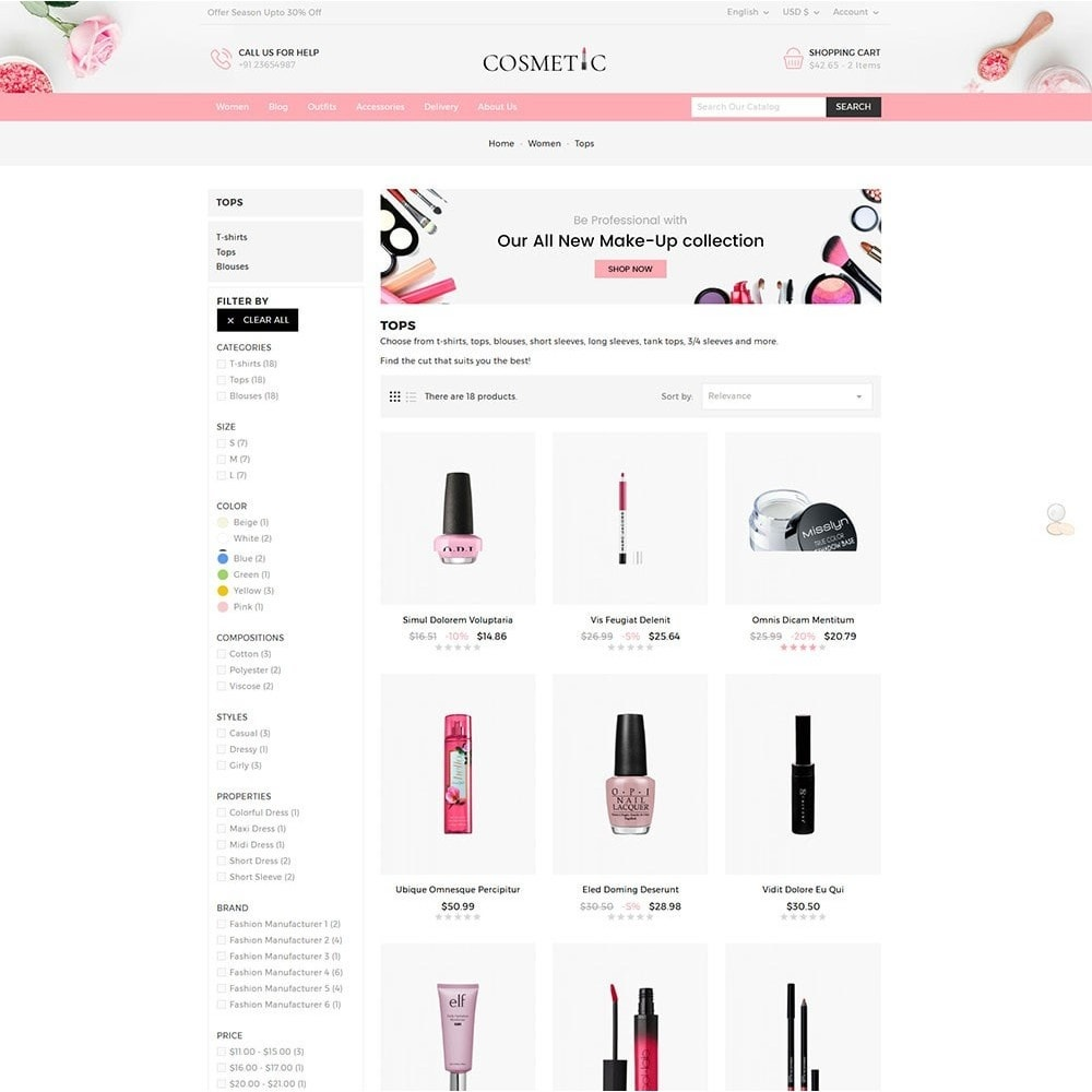 theme - Здоровье и красота - Cosmetics Store - 5