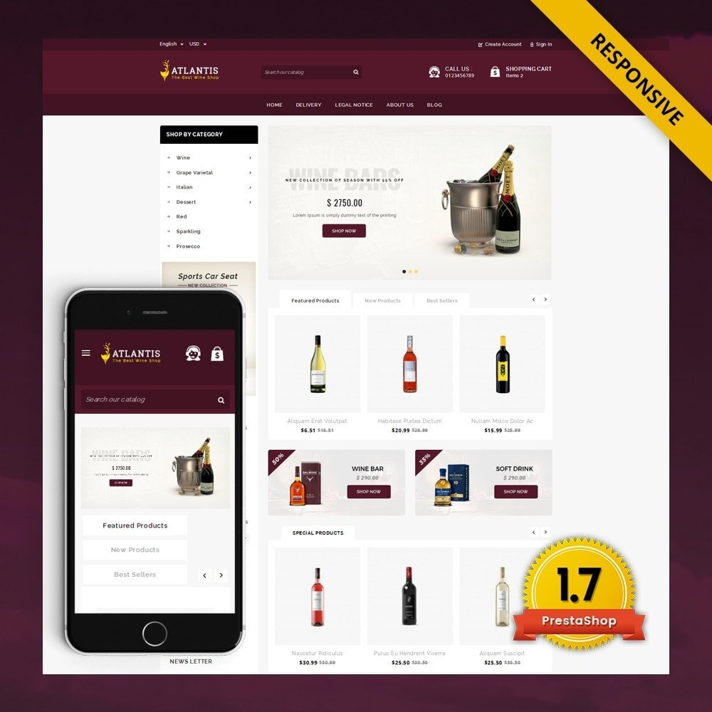 theme - Drink & Wine - Atlantis - The Wine Shop - 1