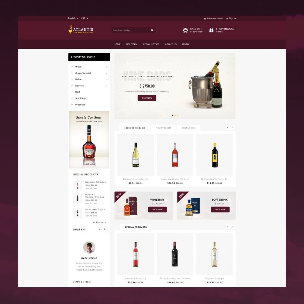 theme - Napoje & Wyroby tytoniowe - Atlantis - The Wine Shop - 2