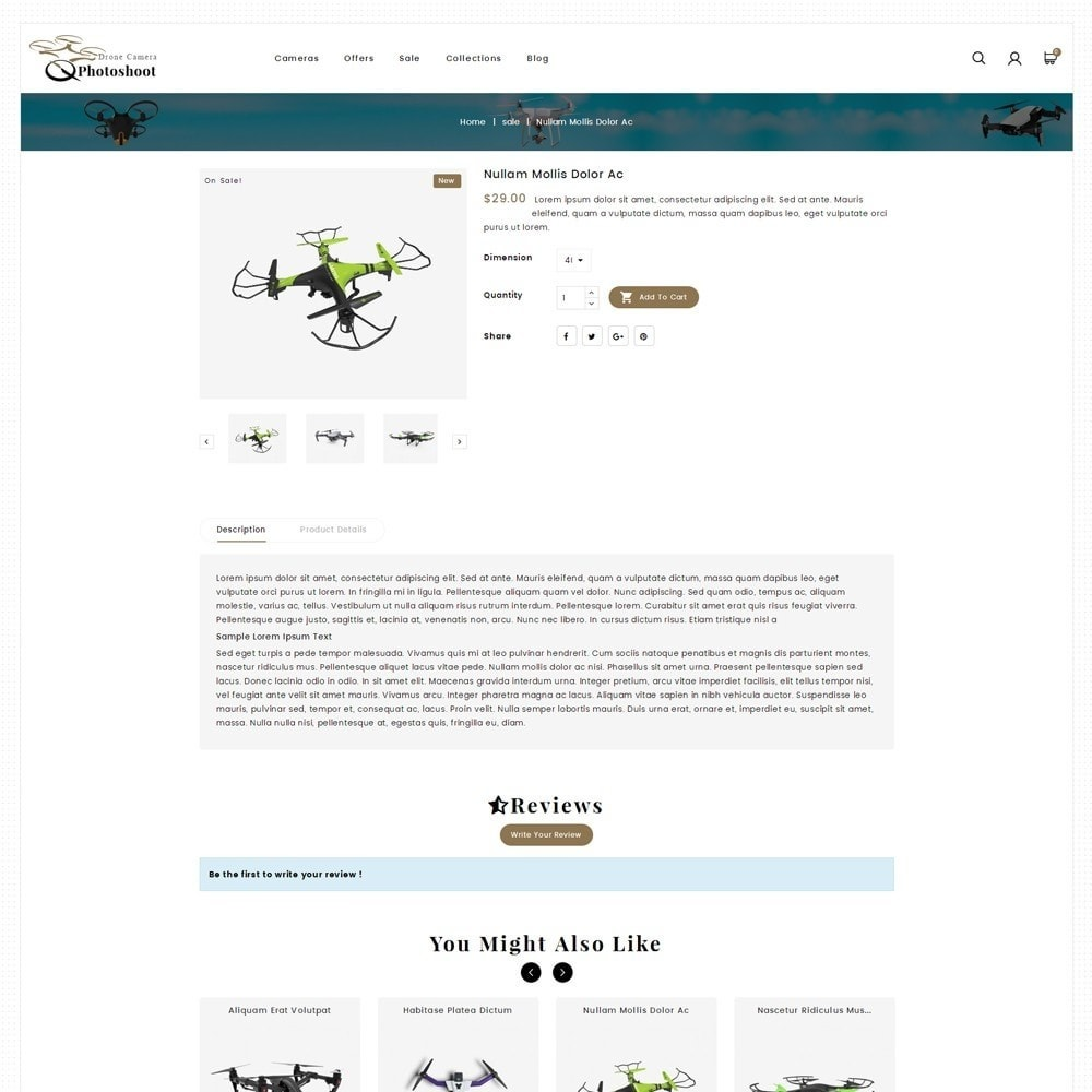 theme - Elektronica & High Tech - Drone Camera Store - 5