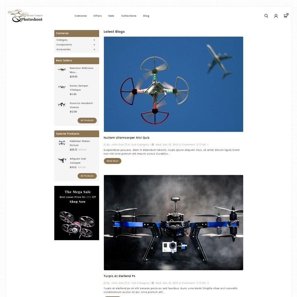theme - Elektronica & High Tech - Drone Camera Store - 6