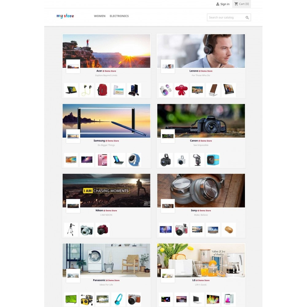 module - Marche & Produttori - Brands Wall: Home & Categories pages - 1