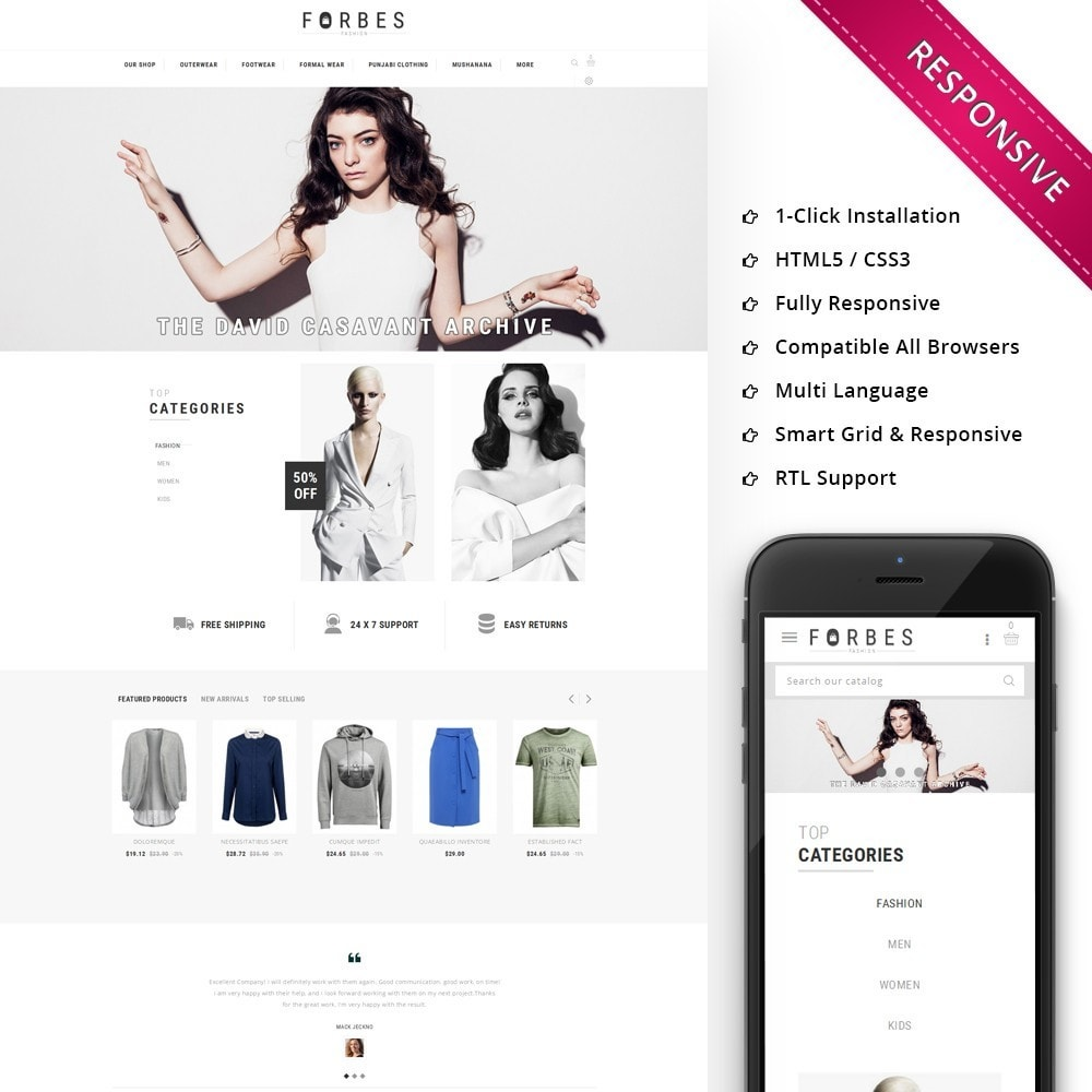 theme - Moda & Obuwie - Forbes - The Fashion Store - 1