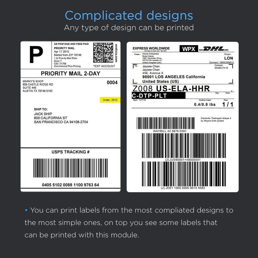 module - Preparación y Envíos - Imprimir envío etiquetas Pro (dirección impresión) - 4