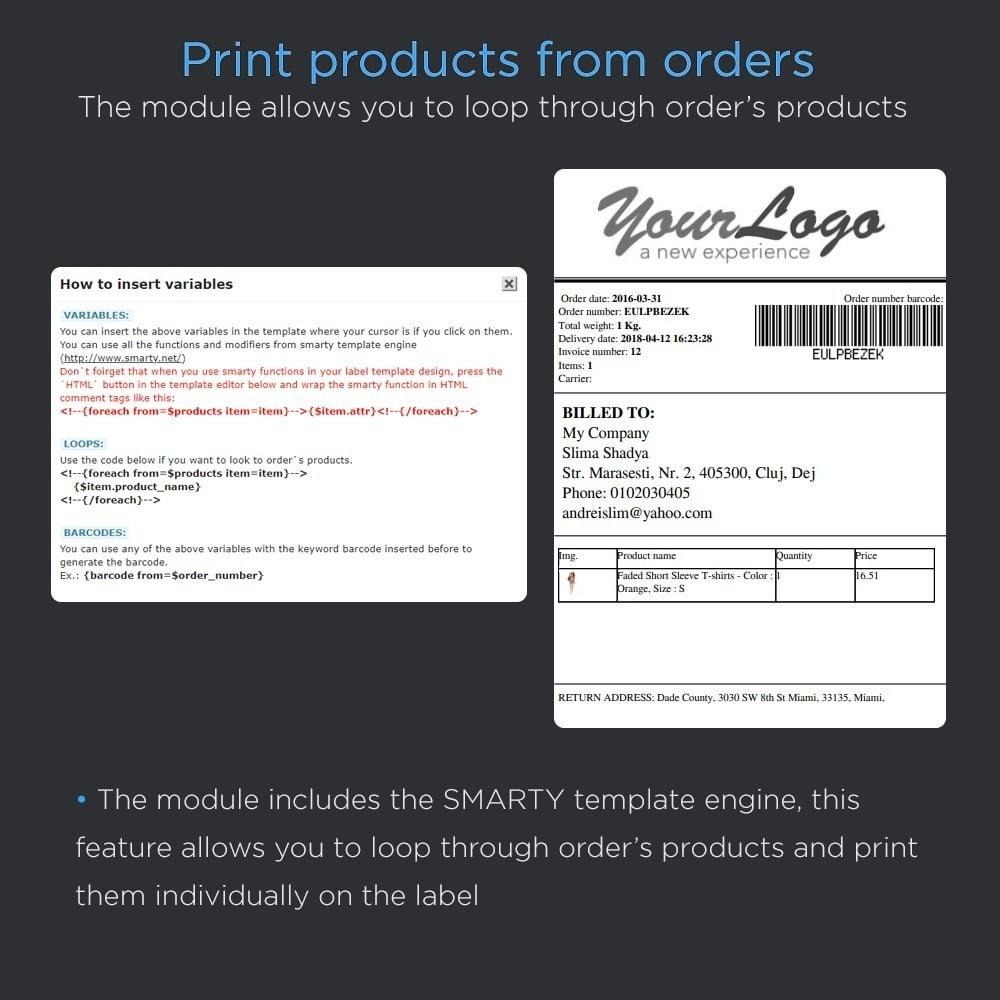 module - Preparación y Envíos - Imprimir envío etiquetas Pro (dirección impresión) - 6