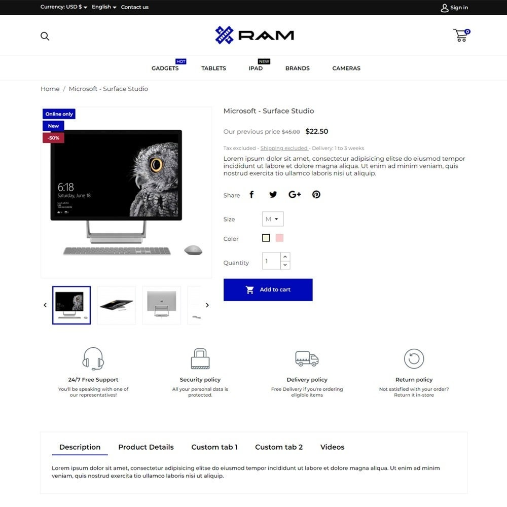 theme - Электроника и компьютеры - Ram - High-tech Shop - 5