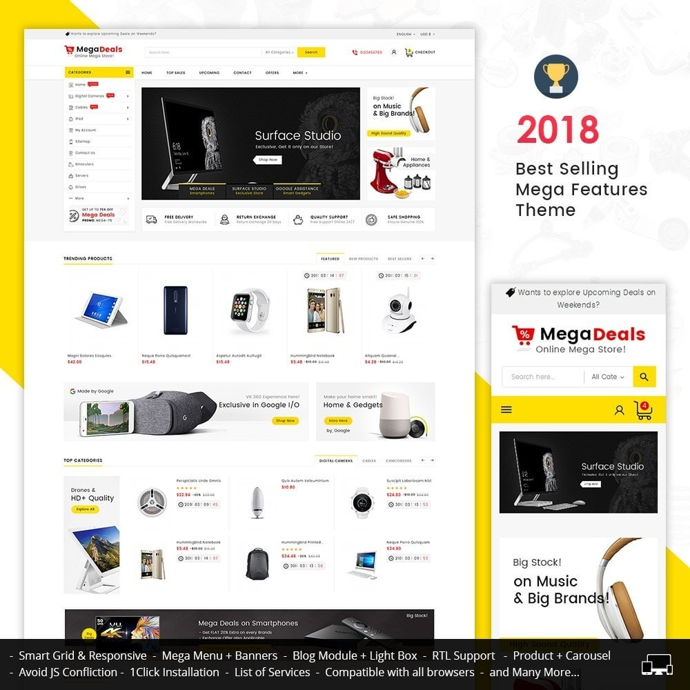theme - Электроника и компьютеры - Mega Deals Electronics - 1