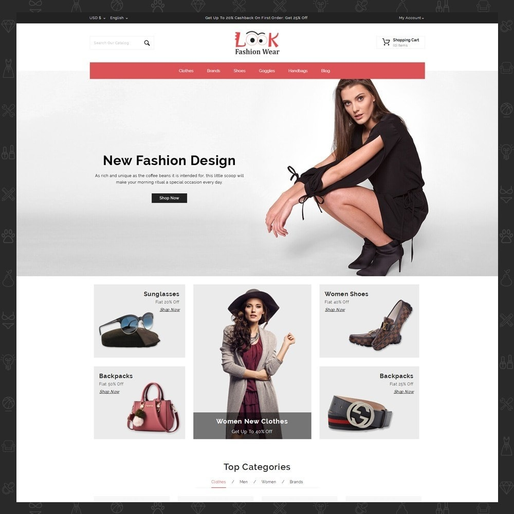 theme - Fashion & Shoes - Look - Fashion Store - 2