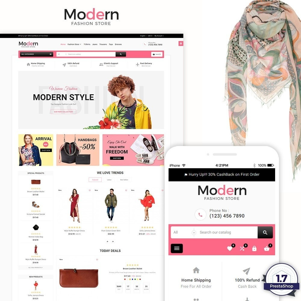theme - Мода и обувь - Modern – Fashion and Shoes Mega Shop - 1