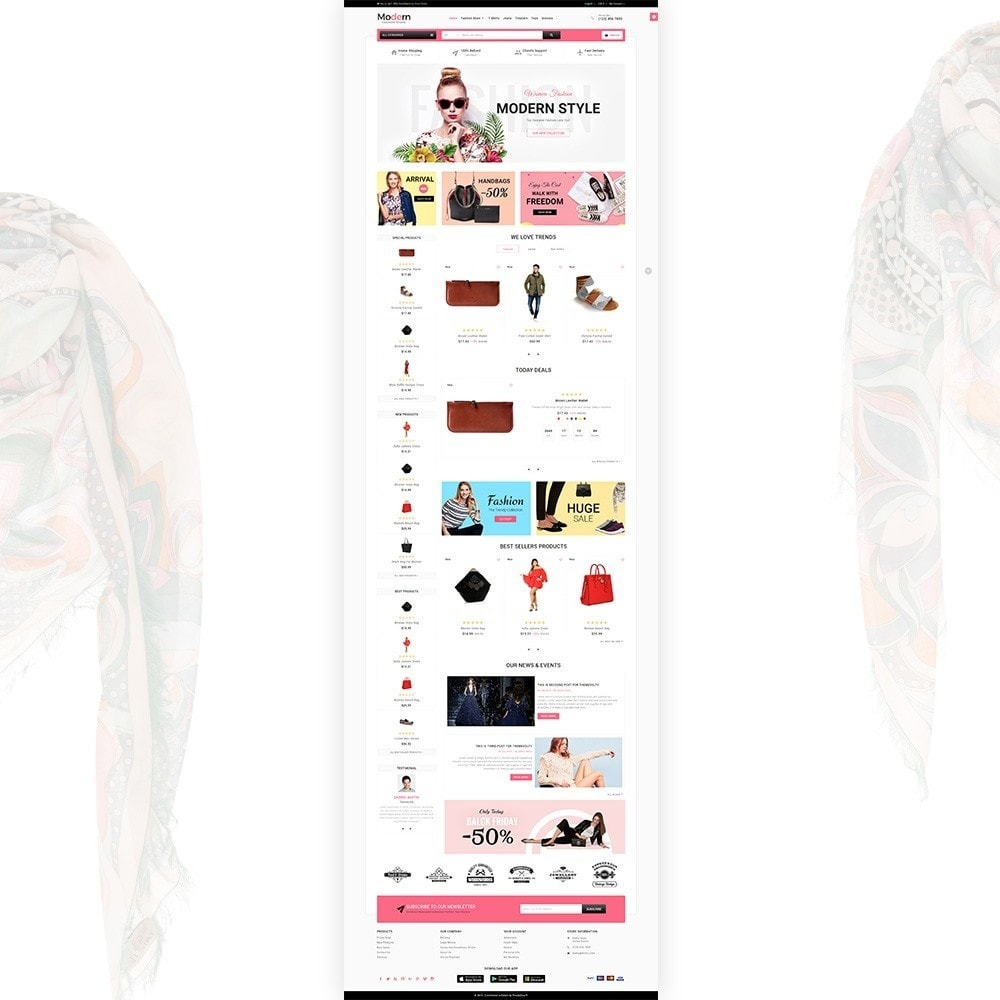 theme - Мода и обувь - Modern – Fashion and Shoes Mega Shop - 2