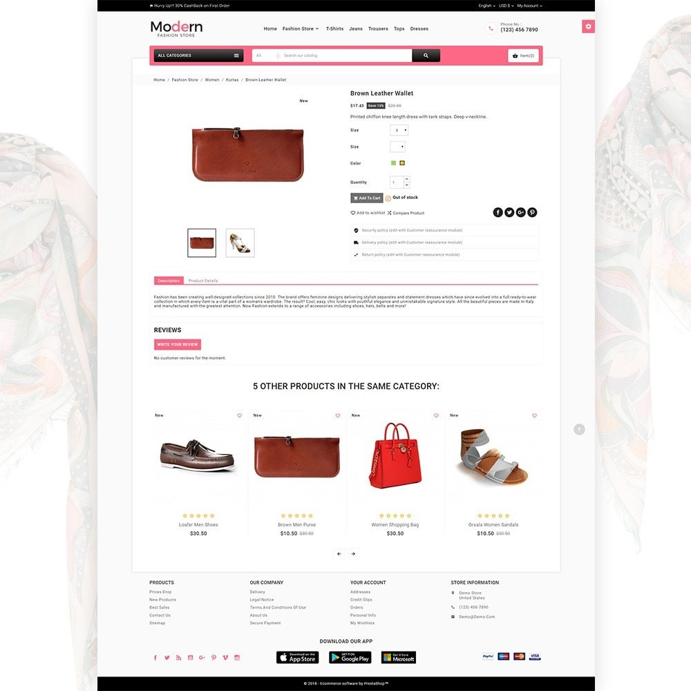 theme - Мода и обувь - Modern – Fashion and Shoes Mega Shop - 4
