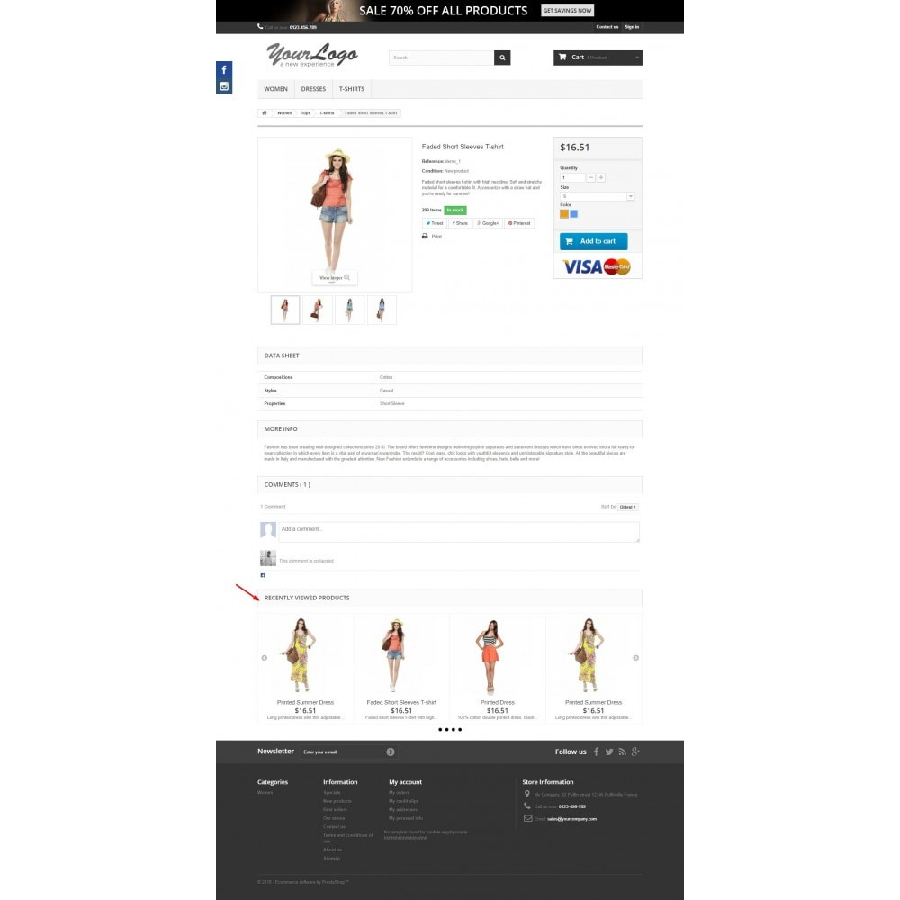 module - Ventas cruzadas y Packs de productos - Recently Viewed Products - Carousel and Responsive - 3