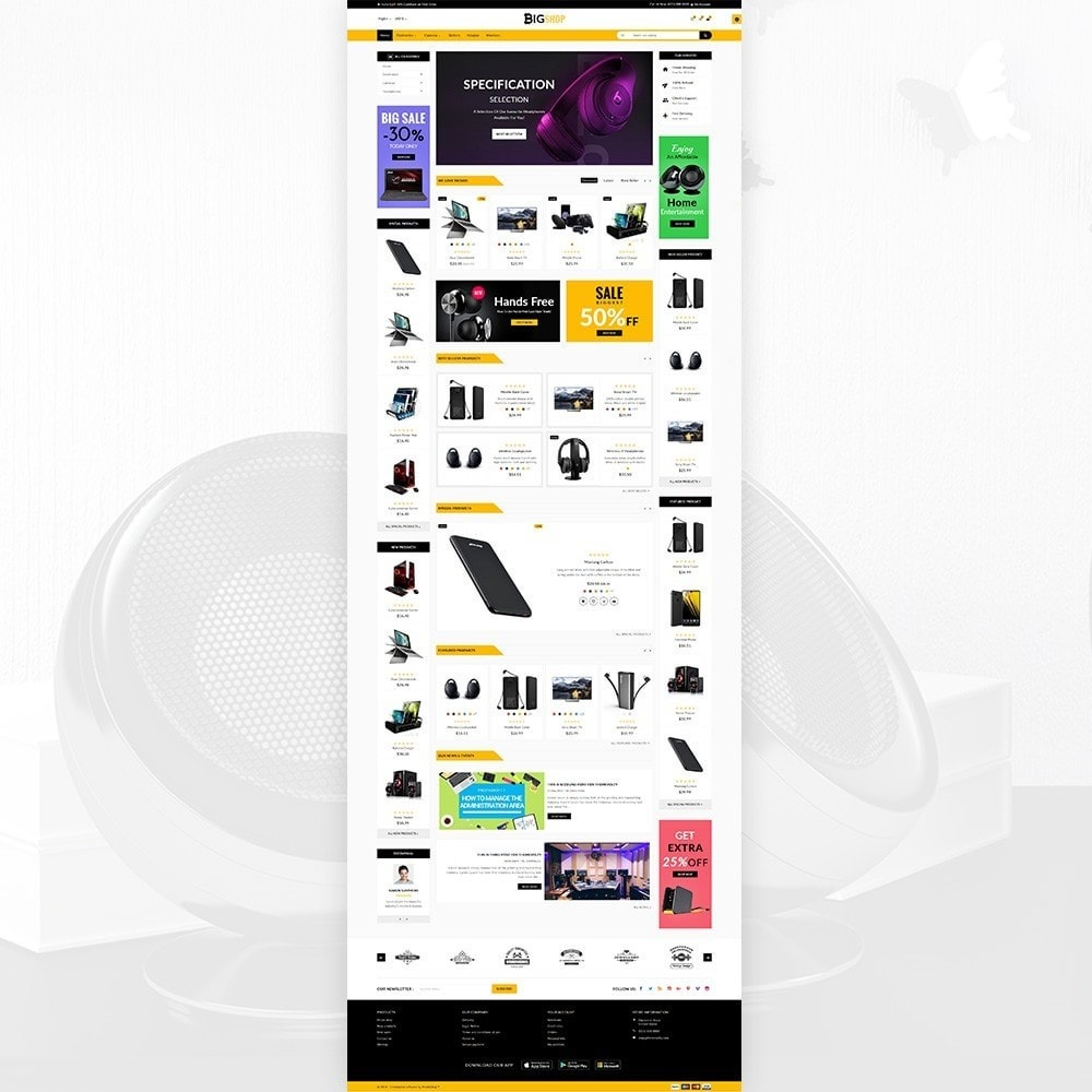 theme - Elettronica & High Tech - BigShop – Electronic Mega Super Store - 1